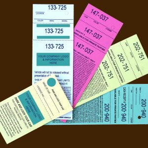 Parking Valet Tickets