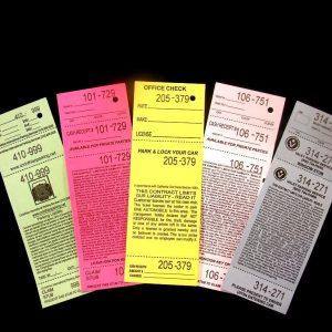 Valet Tickets