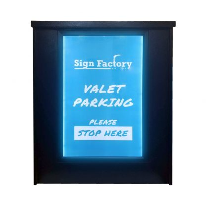 Deluxe podium front with LED sign