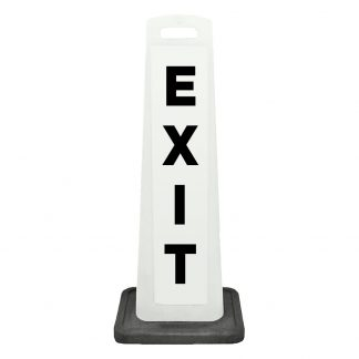 flat cone - exit - white background