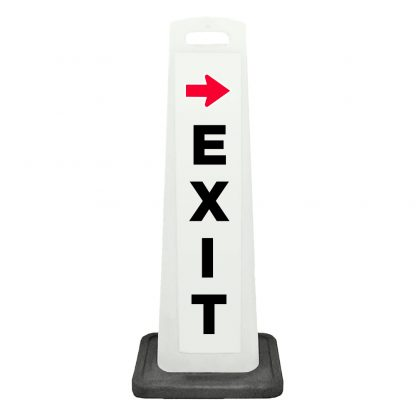 flat cone - exit with arrow - white background