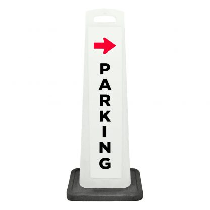 flat cone - parking side arrow - white background